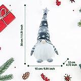 wojonifuiliy Leuchtender Weihnachts-Wichtelpaar Weihnachten Deko Wichtel für die Weihnachtsdeko, Weihnachtsmann Santa Gnom Dwarf Schwedische Tischdeko für Familie Weihnachtsdekoration (Grau) - 7