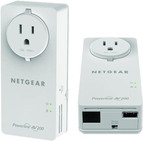 NETGEAR Powerline 200Mbps 2-Port PassThru Adapter - Starter Kit (XAUB2511)