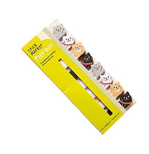 CAOLATOR Notizzettel Papier Haftnotizen Drucken Sticky Note Bunt Klein Klebezettel Lustig Klebend Textstreifen Haftmarker Page Marker Fahnen Tabs Tiere Muster (Katzen)