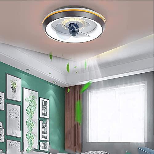 WSVULLD Lámpara De Techo LED Moderna Con Ventilador, Lámpara De Araña De Iluminación Silenciosa, Control Remoto, Atenuación De Tres Colores Para El Dormitorio, Sala De Estar, Habitación De Los Niños A