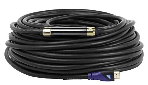 MutecPower 30m AKTIVES HDMI 2.0 Kabel - Mit Verstärker Extender Entzerrer High Speed mit Ethernet Full HD 1080p@60Hz ARC UHD 2160p 4K@30Hz 3D - Schwarz - 30 Meter