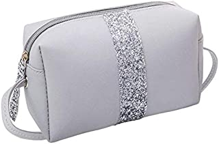 TOOGOO Small Sequins Shoulder Messenger Bag Ladies Small Lady Handbag Pu Leather Handbag Messenger Bag Shoulder Bag Handbag Gray
