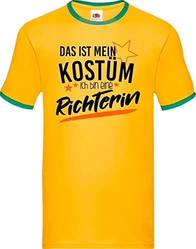 Shirtinstyle Luchador Camiseta Carnaval Verkleidet como Juez Disfraz De Carnaval Revestimiento, S-XXL - Verde Amarillo, S