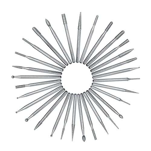 SHARPMEN 30 Pcs Diamond Burr Drill Bits, 1/8