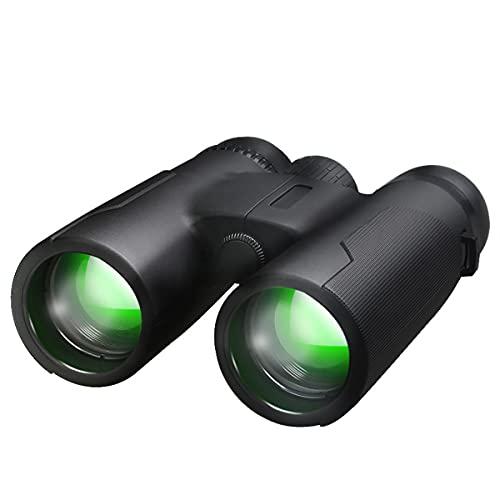 mnzncrfee Prismáticos 12x42 Lente FMC, Prisma BAK4, Binoculares para Observación de Aves, Caza, Senderismo, Astronomía y Camping
