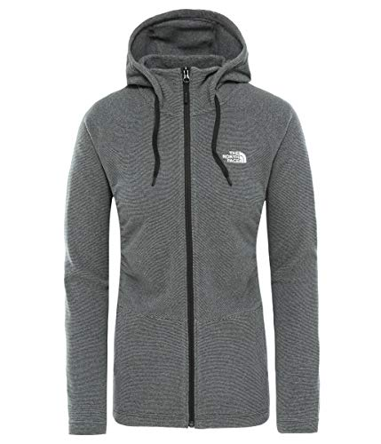 THE NORTH FACE Damen W Mezzaluna FLL ZP H TNFBLKSTRP/TNFW Fleece, Black, L