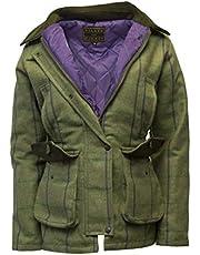 Walker & Hawkes Derby Tweed - Chaqueta de campo para mujer, diseño de rayas, color morado