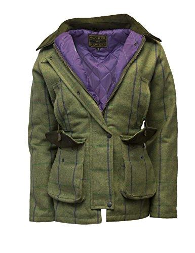 Walker Hawkes Ladies Derby Tweed Shooting Hunting Country Jacket Purple Stripe 10