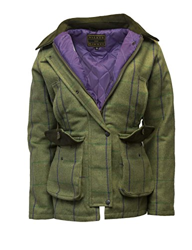 Walker and Hawkes Damen Country-Jacke aus Tweed - für die Jagd geeignet - Muster mit lila Streifen - Größen 34 bis 50
