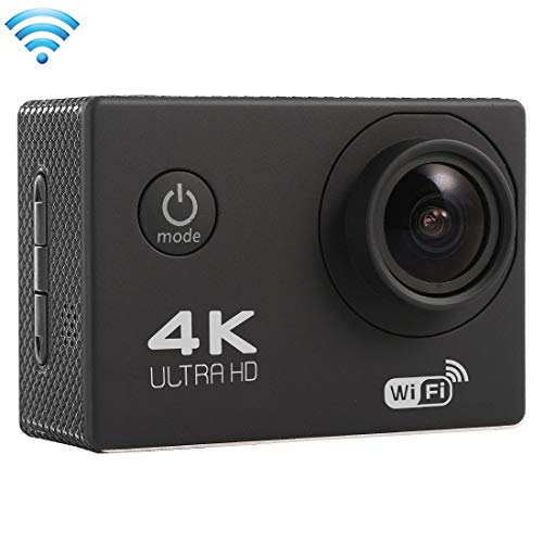 EGSFSOP Other Camera F60 2.0 inch Screen 4K 170 Degrees Wide Angle WiFi Sport Action Camera Camcorder with Waterproof Housing Case, Support 64GB Micro SD Card(Black) (Color : White)