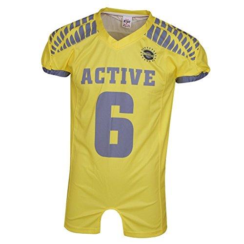 ACTIVE Sport esterni della bicicletta jersey colore giallo viaggio t-shsirt tempo libero vestiti incontro teens uomo