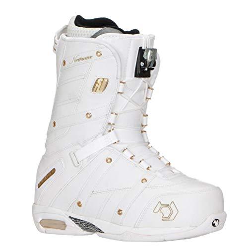 Northwave Devine SL Snowboard Boots White Gold Womens Girls Speed Lace (Womens 7 (Z46))