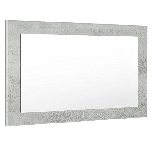 Vladon Spiegel Wandspiegel Lima 89cm in Beton Oxid Optik