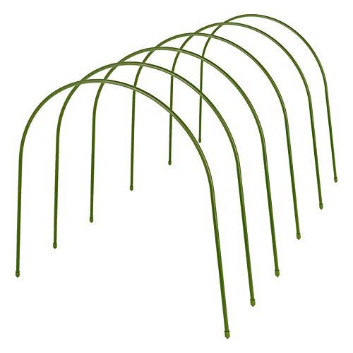 LIDEBLUE 6er-Pack Gewächshaus-Ringe für Pflanzenabdeckung, Metall-Gartenstütze mit Kunststoffbeschichtung, rostfreier Wachstumstunnel