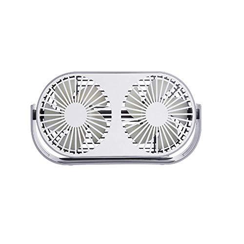 Local Makes A Comeback Mini-ventilator met drie vleugels, verstelbaar, aromatherapie-ventilator, voor op het bureau thuis of op kantoor, grijs