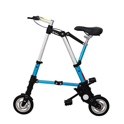 WYFDM Biciclette, Bici Pieghevole in Lega di Alluminio da 8/10 Pollici Ultra Leggero Mini Pieghevole Bicicletta Shopping metropolitana Viaggio Tasca Portatile Unisex Cyclling,A,10inch