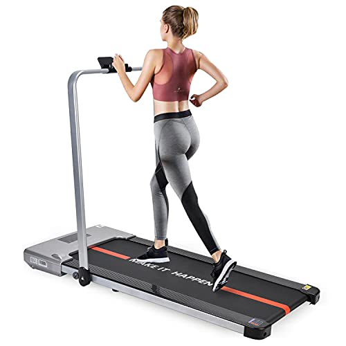 WELCARE MAXPRO PTM-X1 2HP (Peak) Motorized Foldable PRE-INSTALLATED Aerobic, Under Desk Treadmill, Walking PAD with LED Display,...