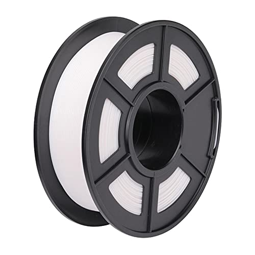 ABS 3D Printer Filament, Dimensional Accuracy +/- 0.02 mm, 1 kg Spool, 330m, 1.75 mm, High Toughness, High Wear Resistance-White