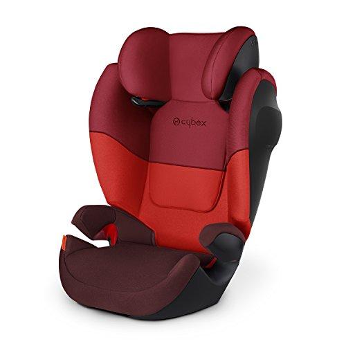 Cybex - Silla de coche grupo 2/3 Solution M SL, sin ISOFIX, 15-36kg, desde los 3 hasta los 12 años aprox., Rumba Red