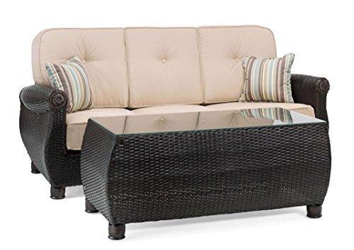 La-Z-Boy Outdoor ABRE CT-N Patio Sofa Set, Natural Tan