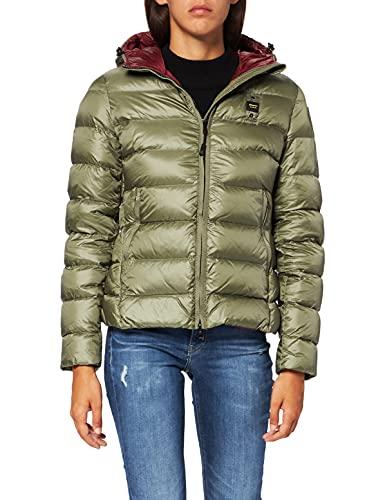 Blauer GIUBBINI Corti Imbottito Piuma Chaqueta Acolchada, 647rh Verde Alpino INT. Rojo Chianti, M para Mujer