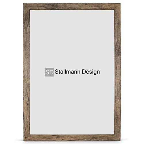Stallmann Design Bilderrahmen New Modern 50x70 Puzzleformat cm braun Rahmen Fuer Dina 4 und 60 andere Formate Fotorahmen Wechselrahmen aus Holz MDF mehrere Farben wählbar Frame für Foto oder Bilder