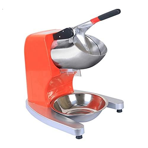 Triturador Doméstico Comercial Trituradora de hielo, máquina de afeitadora de hielo eléctrica, fabricador de cono de nieve de acero inoxidable para heladeros, bares para uso doméstico y comercial