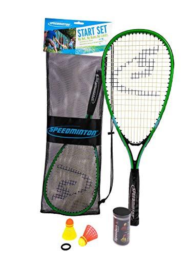 Speedminton Start Set  Original Speed Badminton/Crossminton Starter Set Including 2 Rackets 2 Speeder Mesh Bag