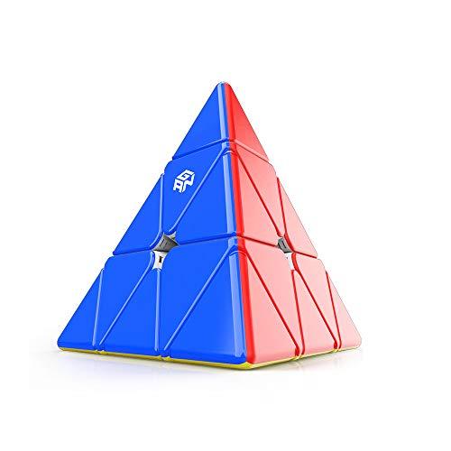 GAN Pyraminx 36 Magnete Zauberwürfel, Geschwindigkeit Würfel Pyramide Magnetwürfel Aufkleberloser Dreieckswürfel Spielzeug Puzzle (Standard)