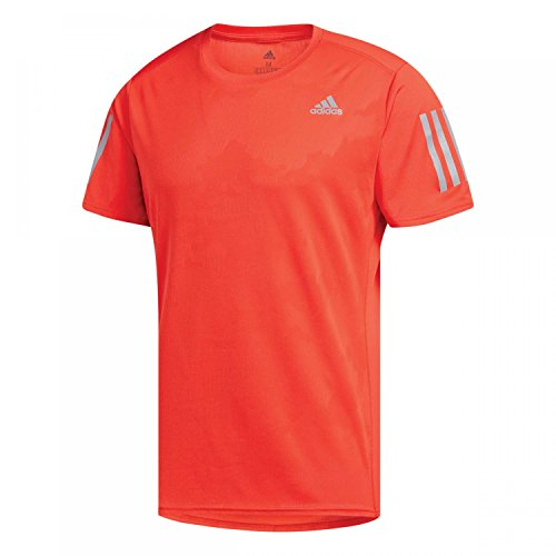 Adidas Response Tee M,Camiseta para Hombre, Multicolor (Rojo), S