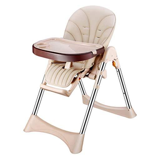 Comfortable Home Chaise Haute Pliante, Chaise de Salle à Manger pour bébé, Assiette Verte Food Street, Hauteur réglable, Convient aux Restaurants commerciaux