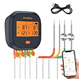 Inkbird WiFi Grill Meat Thermometer IBBQ-4T with 4...