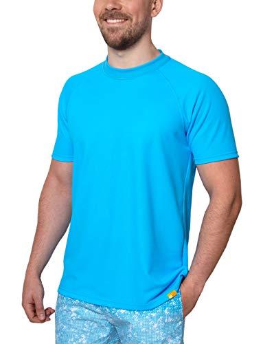 iQ-UV Herren 50+ Sonnenschutz mit V-Ausschnitt, regular geschnitten Uv T-shirt, Hawaii, 5XL/62