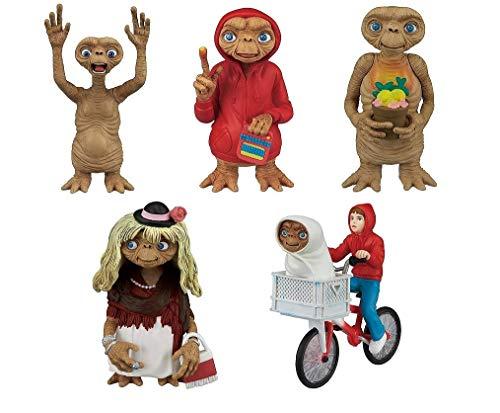 TOMY E.T. el Extraterrestre Juego Completo 5 Figuras Colección 6cm Original Gashapon Japón