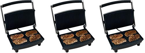 Chef Buddy 80-1840 Panini Press Grill and Gourmet Sandwich Maker for Healthy Cooking by...
