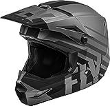 FLY Racing Kinetic Thrive Helmet, Full-Face Helmet for Motocross, Off-Road, ATV, UTV, Bicycle and More (Matte Dark Grey/Black, Youth-Small)