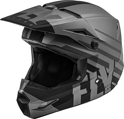 FLY Racing Kinetic Thrive Helmet, Full-Face Helmet for Motocross, Off-Road, ATV, UTV, Bicycle and More (Matte Dark Grey/Black, Large)