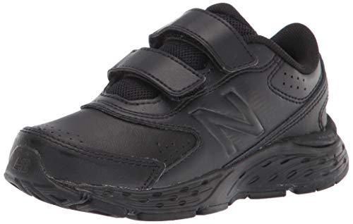New Balance 680 V6 Hook and Loop Running Shoe, Black/Black, 1 US...