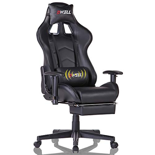 EDWELL Home Office Desk Chair Gaming Chair with Footrest,High Back Computer Gaming Chair, Racing Style Ergonomic Chair...