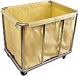 GDD Carrello Porta Biancheria Lavanderia Hamper Raccoglispighe Carrello 200 kg capacità - Heavy Duty rotolamento Servizio Trolley con Silent Wheels & Borse Rimovibili (Color : #2)