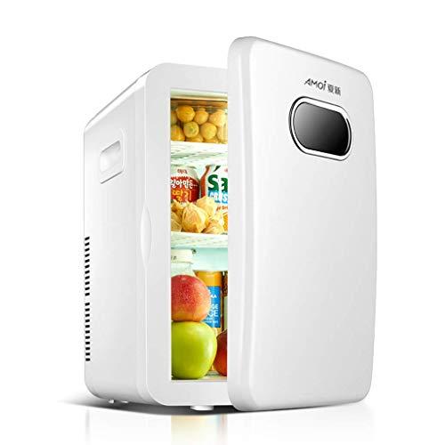 LXDDB Auto Kühlschrank 20l Mini Schlafsaal Haushalt Kleine Gefriertruhe Tragbare Reise Camping Heizung Und Kühlung Dual-Use-Kühlschrank-Weiß