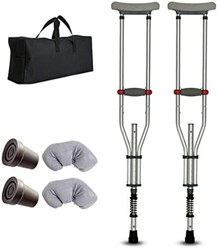 Muletas plegables impulsan la crutch de subarmes de aluminio de servicio pesado bariátrico médico Multitud aumenta la movilidad