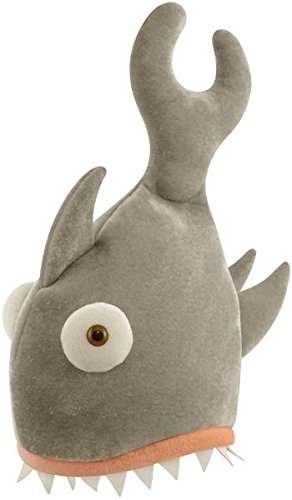 HAT SHARK BITE GREY 29 X 42CM ADULT