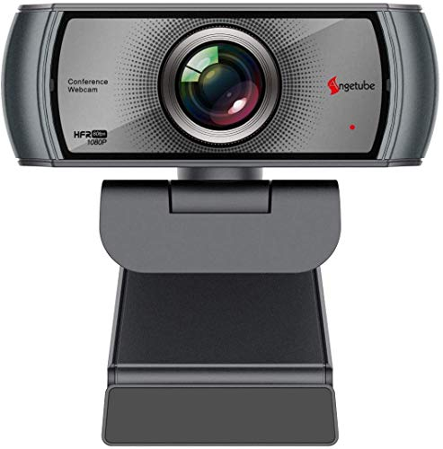 1080P Webcam 60fps with Microphone Wide Angle Noise Reduction HD USB Web Camera for Zoom Skype Meeting YouTube Hangouts Windows PC Mac Laptop Desktop