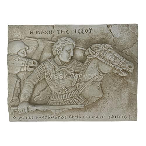 Placa decorativa de la Batalla de Issus La Victoria de Alejandro La Gran Muralla