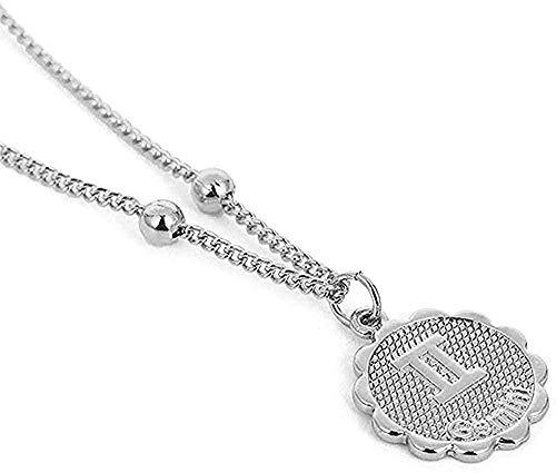 ZJJLWL Co.,ltd Collar de 12 Constelaciones Collar con Colgante en Relieve Collar de Cadena del Zodiaco de Cobre joyería del horóscopo para Regalo de Mujer