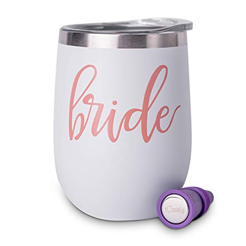 Bride Tumbler - Bachelorette Party Gifts for Bride - Bride to be Gifts for Her - Bride Gift - Bride Wine Glass -Bachelorette Gifts for Bride - Bride Cup - Bride Wine Tumbler -Includes Wine Stopper