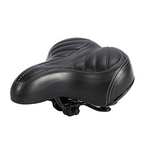Fietszadel, comfortabele, ergonomische gel, met dubbele vering, gelzadel gevuld met gelschuim, comfortabele fietsstoel geschikt voor fiets-, mountainbike- en straatfietsen.