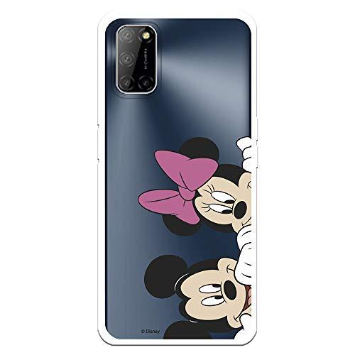Funda para OPPO A52 - A72 - A92 Oficial de Clásicos Disney Micky y Minnie Asomados para Proteger tu móvil. Carcasa para OPPO de Silicona Flexible con Licencia Oficial de Disney.