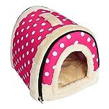 YouthUnion Cama para Mascota, Casa Estera Casera Diseño de Triángulo Edredón Máquina Saco de Dormir Caliente Lavable Cómoda para Gatito Gatos Perros Cachorro Conejo Invierno (M, Color 3)